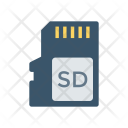 Sd Chip Memory Icon