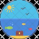 Fish Sun Bird Icon