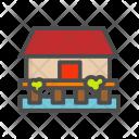 Sea Apartment Home Icon