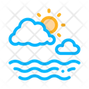 Sea Cloudy Weather Icon