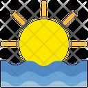 Summer Sea Sun Icon