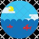 Sea Underwater Sun Icon