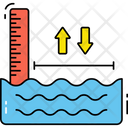 Sea Level Water Level Climate Change Icon