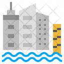 Sea Level Rise Climate Change Flood Icon