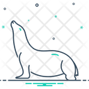 Sea Lion Otaria Byronia Sea Icon
