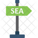Arrow Hint Directional Sign Sea Signboard Icon