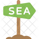 Sea Signboard Arrow Icon