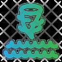 Sea Storm Cyclone Twister Icon