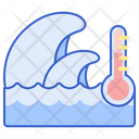 Sea Surface Temperature Temperature Water Temperature Icon