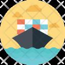 Sea Container Shipment Icon