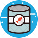 Seafood Fish Tin Icon