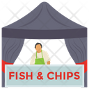 Seafood Stall Fish Stall Fried Fish Icon