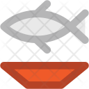 Seafood Fish Plate Icon