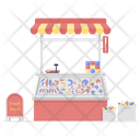 Seafood Market Fish Shop Food Cart Icon