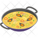 Seafood Paella Pan Icon