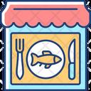 Seafood Restaurant Bar Icon