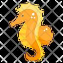 Seahorse Hippocampus Sea Creature Icon