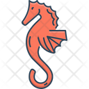 Seahorse Horse Sea Life Icon