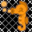 Seahorses Ocean Marine Icon