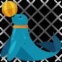 Seal Train Circus Icon
