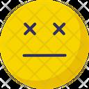 Sealed Eye Eyeless Emoticons Icon