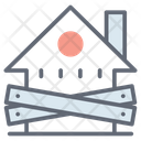 Banned Property Restricted Property Sealed House Icon