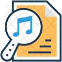 File Music Magnifier Icon