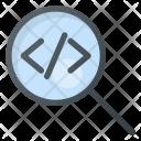 Search Code Coding Icon