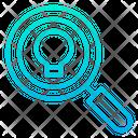 Searching Idea Find Idea Magnifier Glass Icon