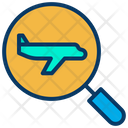 Flight Search Airplane Search Searching Flight Icon