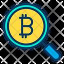 Bitcoin Search Bitcoin Searching Bitcoins Icon