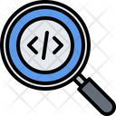 Search Magnifier Code Icon