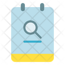Note Search Magnifier Icon
