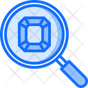 Search Magnifier Gems Icon