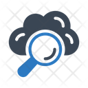 Search Cloud Magnifier Icon