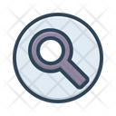 Search Information Glass Icon