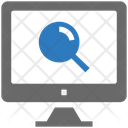 Seo Web Monitor Icon