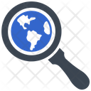 Globe Global Search Icon