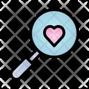 Search Valentine Heart Icon