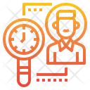 Search Magnifying Glass Time Icon