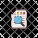 Search Report Finance Icon