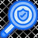 Search Magnifier Shield Icon