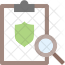 Search Clipboard Magnifying Glass Icon