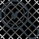 Search Yen Japanese Icon