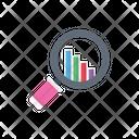 Analysis Search Graph Icon