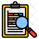 Search Analysis Report Chart Icon