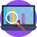 Search Analysis Search Bar Graphs Icon