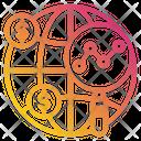 Globe Magnify Fine Icon