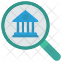 Search Bank Magnifier Icon