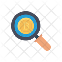 Search Bitcoin Currency Icon